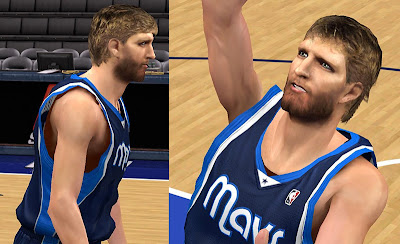 NBA 2K13 Dirk Nowitzki Cyber face Mod NBA2K Patch