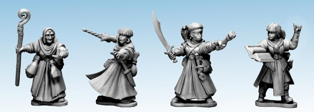 Breaking! Northstar Miniatures: Hard-Plastic Frostgrave Female Wizards Preview!