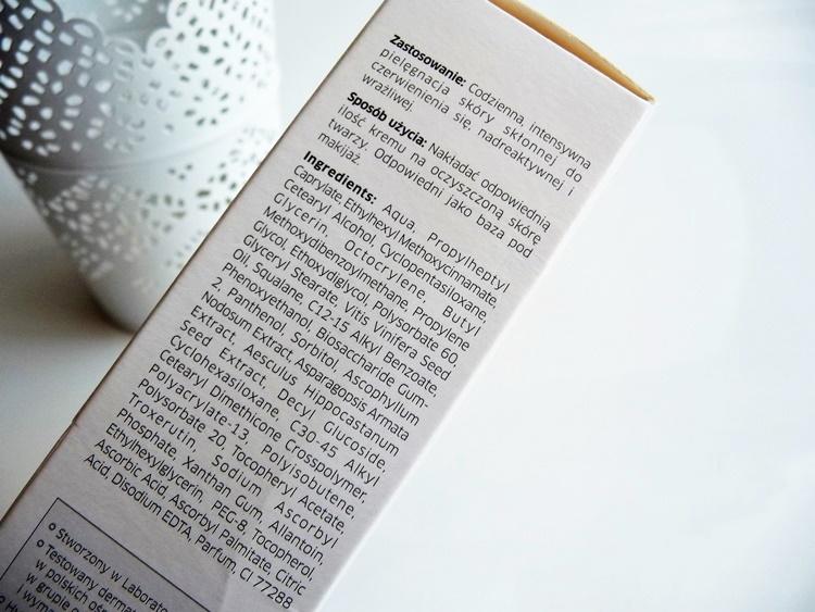 Iwostin krem intensywnie redukujący zaczerwienienia spf 20 skład