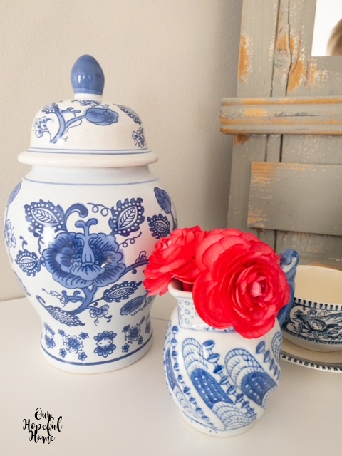 three chinoiserie pieces ginger jar creamer