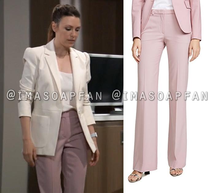 Margaux Dawson, Elizabeth Hendrickson, Lilac Pink Wool Pants, General Hospital, GH