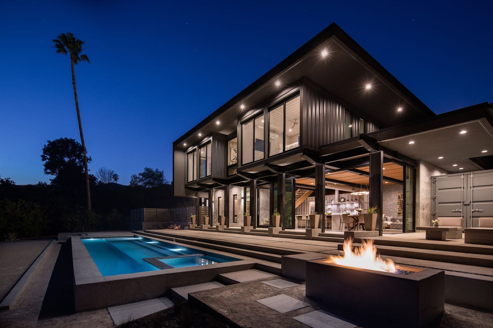 Modern Shipping Container Home shipping container homes & buildings: two-story 4x40ft and
