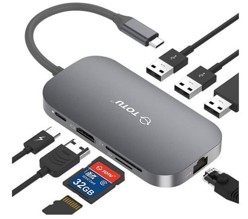 TOTU USB C Hub 9-In-1 Type C Hub with Ethernet Port