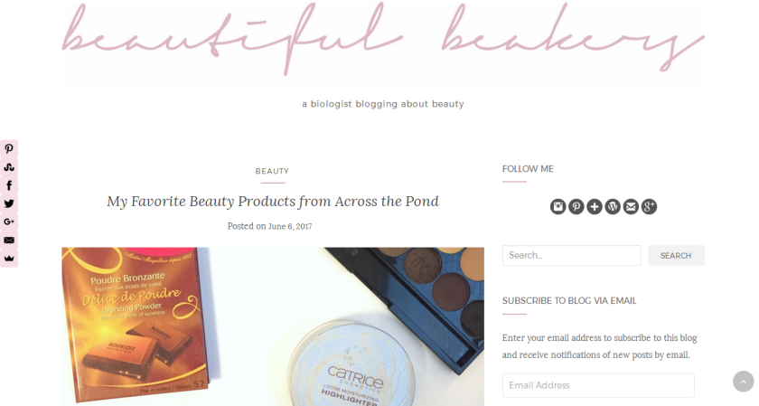 bbloggers, bbloggersca, california blogger, featured blogger, blog of the month, beautifulbeakers, beauty blogger