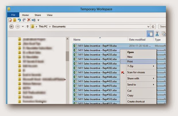 Excel Tips & Tricks: Print Files directly from File Explorer