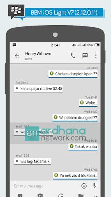 Preview BBM iOS Light V7 - BBM Android V2.12.0.11