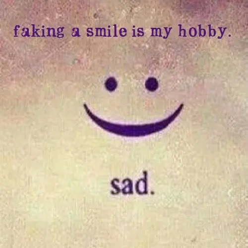faking a smile is my hobby, sad DP for girls