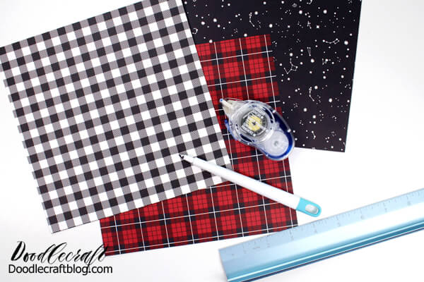 supplies needed for folding your own envelopes and making your own cards.