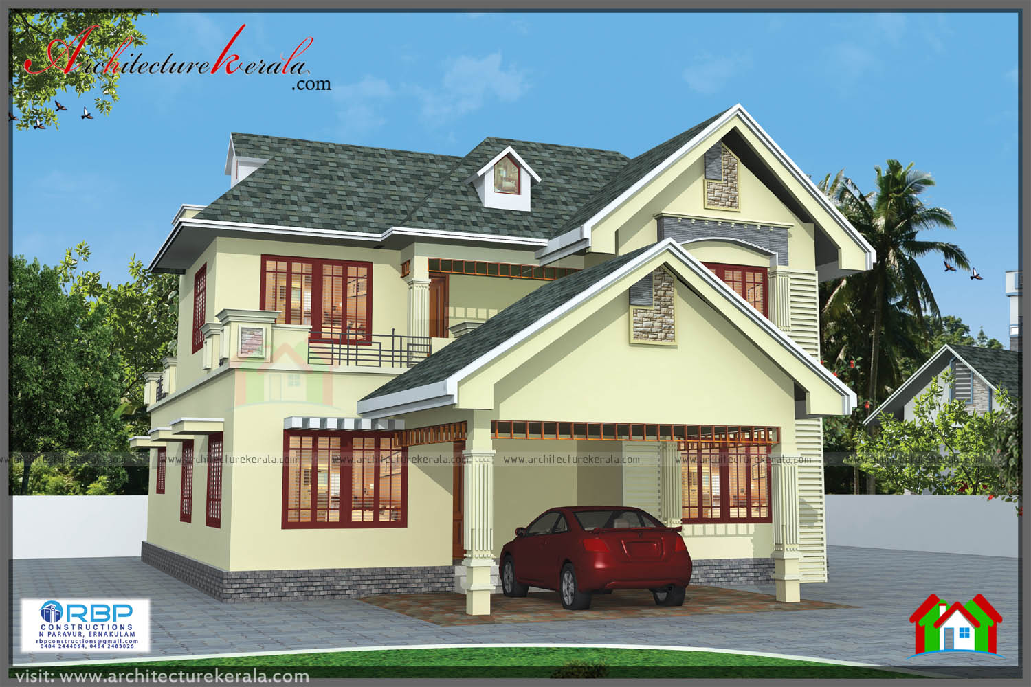 Kerala style house plan and elevation architecture kerala for Kerala type house elevations