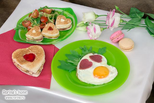 Завтрак на День всех влюбленных: рецепт