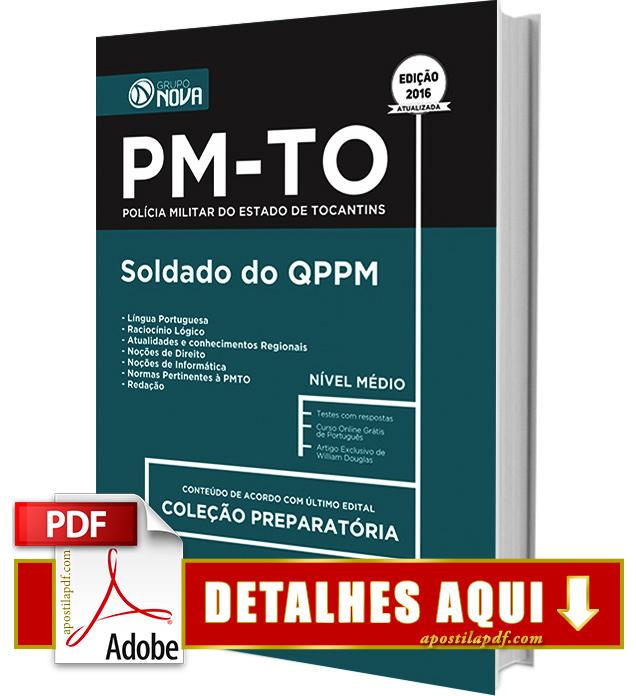 Apostila PM TO 2016 Soldado QPPM Impressa