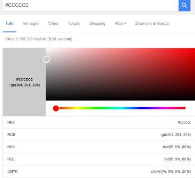 Come scegliere un colore con google
