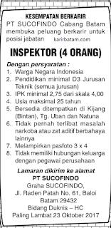Lowongan Kerja PT. Sucofindo Indonesia