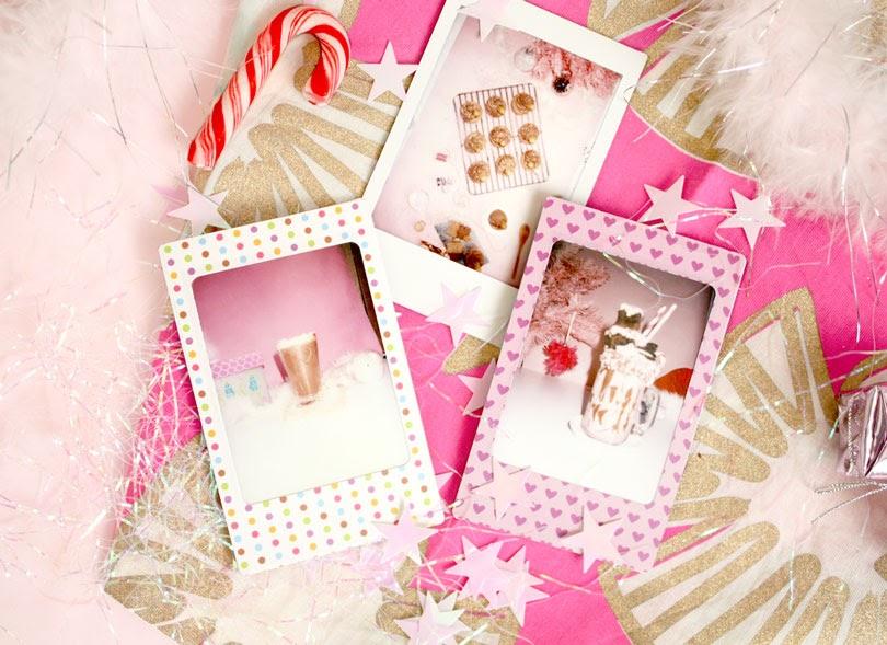 festive christmas polaroids
