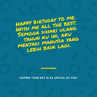 ucapan selamat ulang tahun untuk diriku sendiri