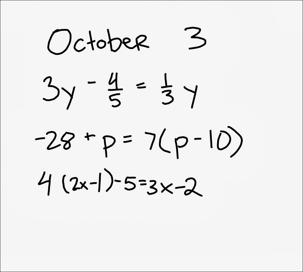 10 3 Solving Equations With Variables On Both Sides