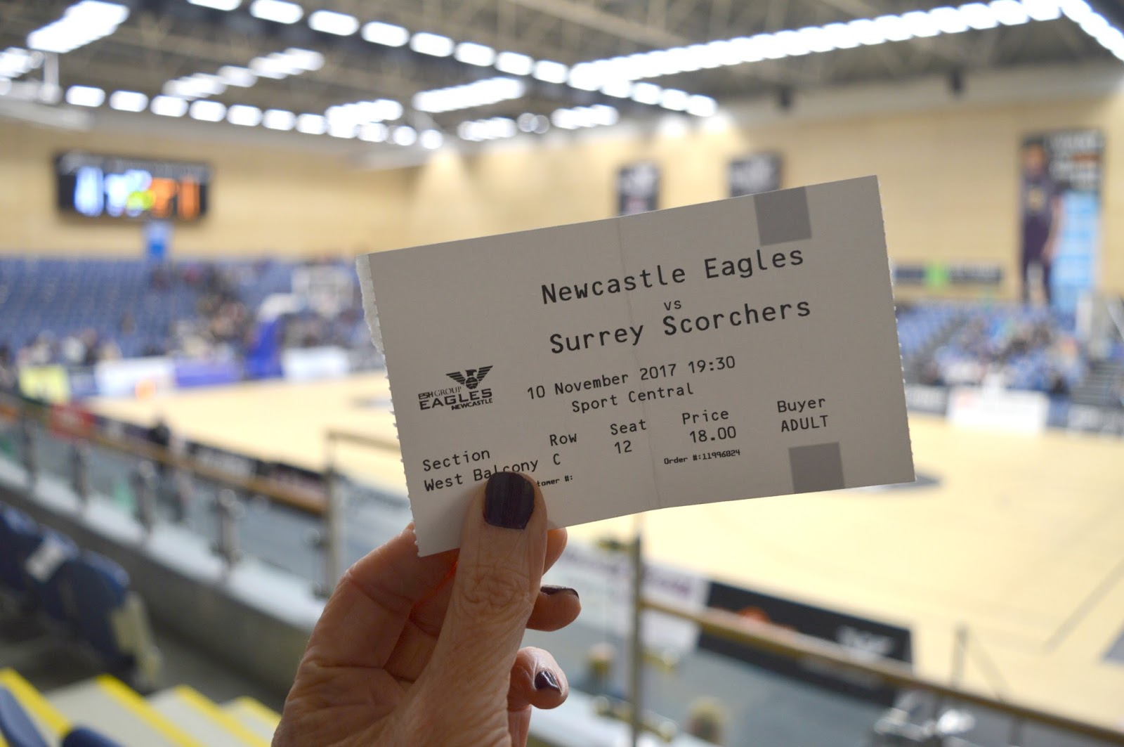 Newcastle Eagles Basketball Game - Ticket