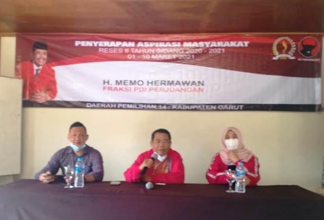 Anggota DPRD Jabar H.Memo Hermawan Menggelar Reses II di  Desa Langensari Tarogong Kaler-Garut