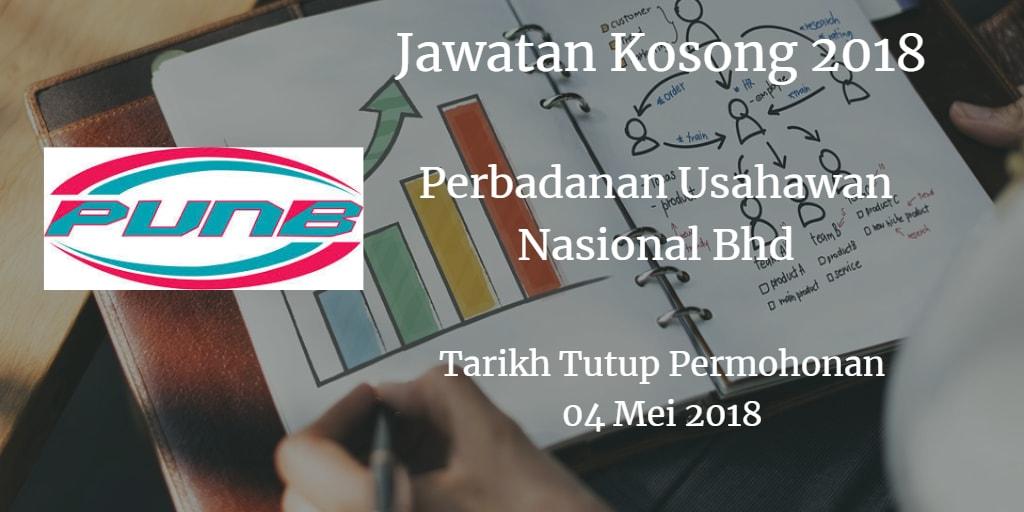 Jawatan Kosong PUNB 04 Mei 2018