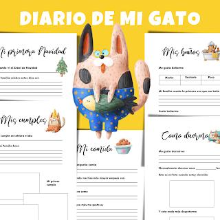 diario, mascotas, gato, gatos, pdf, a4, historia, imprimir, para imprimir, imprimible