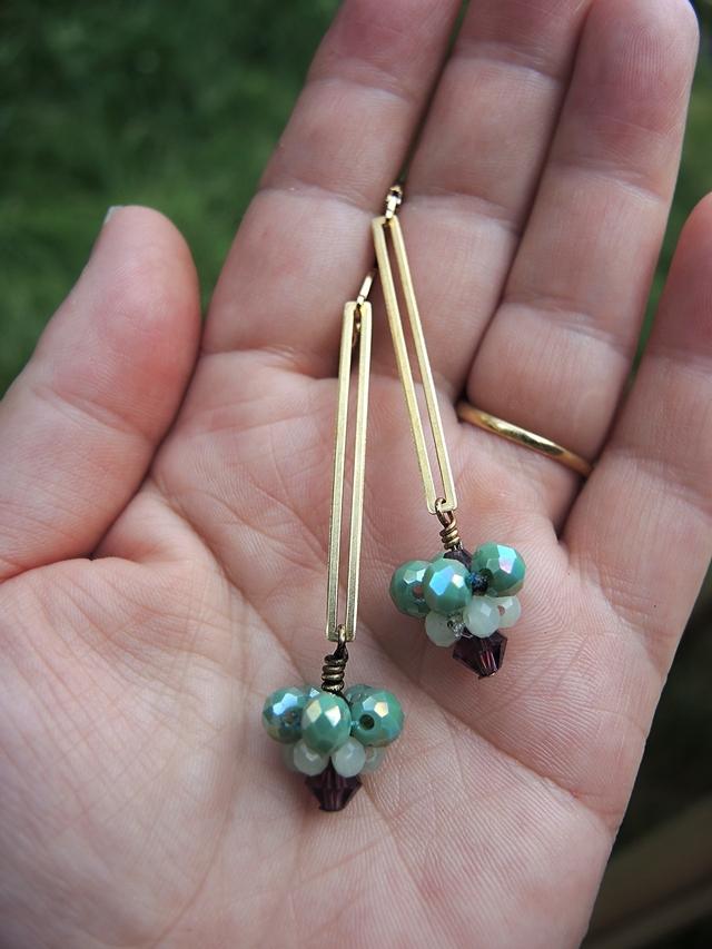 DIY oorbellen/earrings 'Sint Nikolaas'