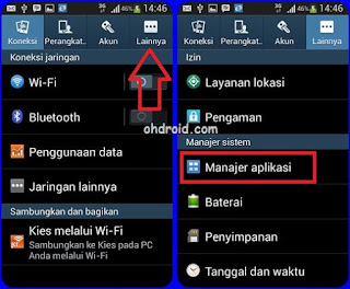 cara logout bbm di android dengan menghapus data bbm