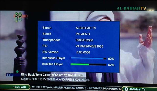 Frekuensi Transponder Al Bahjah TV