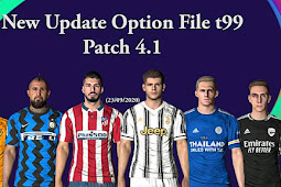 New Option File Update Transfer T99 Patch V4.1 - PES 2017