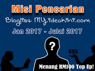 Misi Pencarian Bloglist MYiDEAKiNi 2017