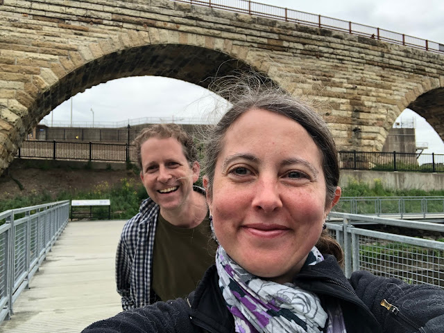 Exploring Stone Arch Bridge and Mill Ruins Park on our anniversary!