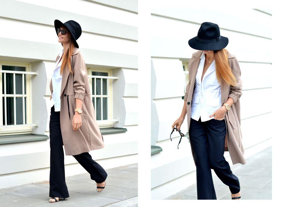 kapelusz z duzym rondem | biala kamizelka | okulary cheap monday | blogi o modzie | minimalizm w modzie | jak sie ubrac elegancko na co dzien