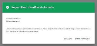 Verifikasi Otomatis GSC