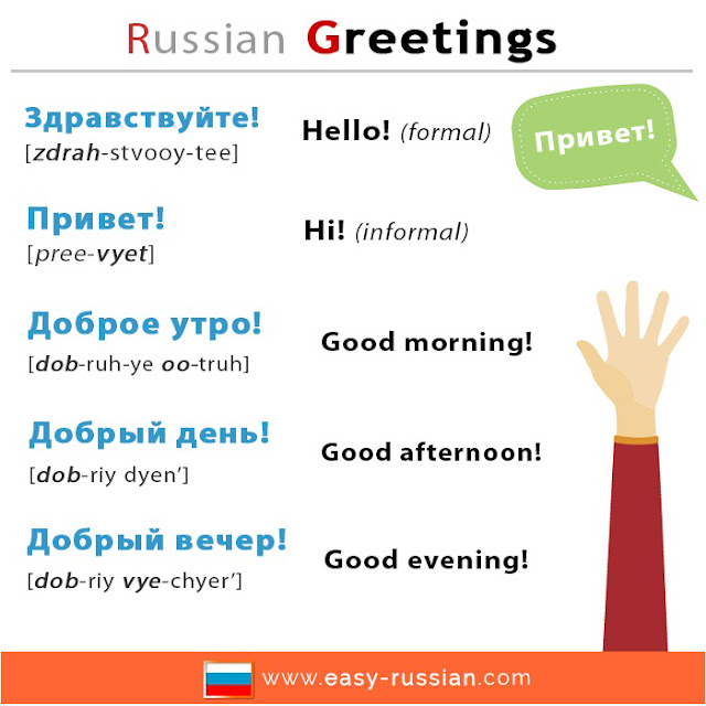 How to say hello in Russian