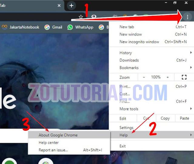 Cara Memperbarui (Update) Browser Google Chrome ke Versi Terbaru
