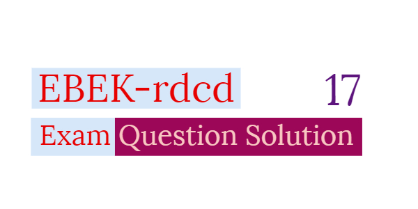 EBEK Exam Question Solution 2017