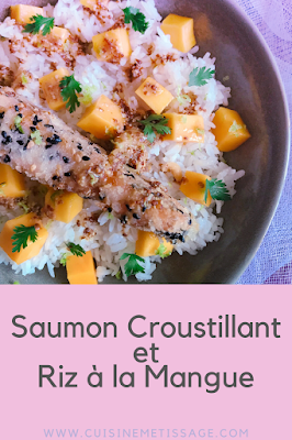 saumon croustillant riz mangue