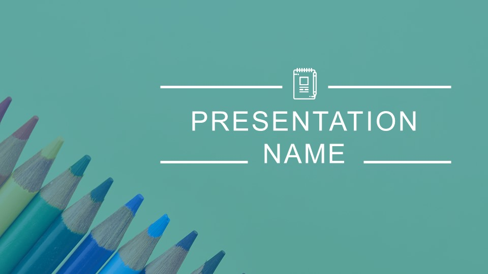 Back to school background ppt with pens