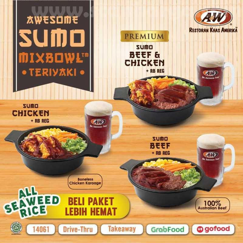 A&W Restaurants Promo Menu Baru SUMO Mixbowl Teriyaki