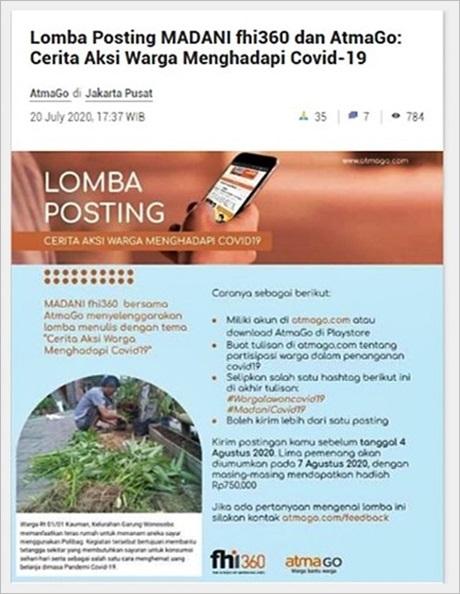 lomba posting di AtmaGo
