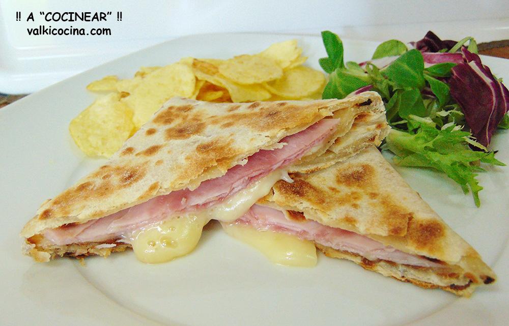 Wrap-sándwich De Jamón Cocido Y Queso