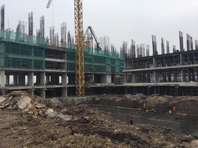 Tiến độ xây dựng tòa HH03B chung cư B1.3 Thanh Hà