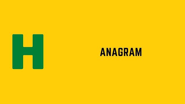 HackerRank Anagram problem solution