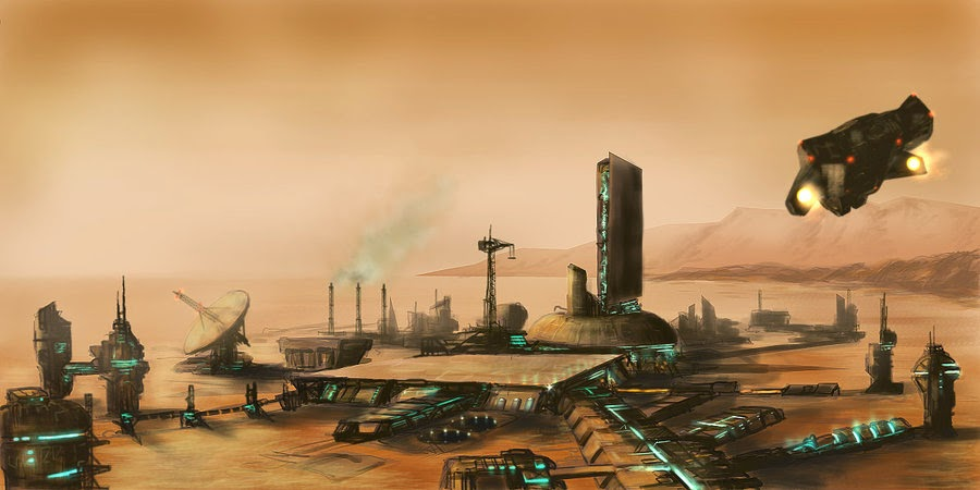 Mars colony by Pete Ashford