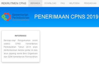 Formasi CPNS Kementerian Perindustrian Tahun 2019