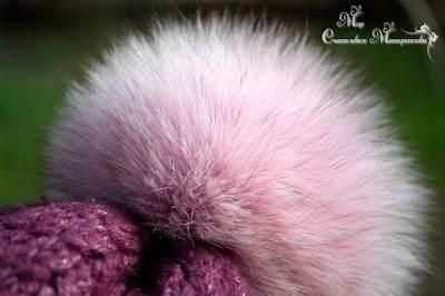 цветной меховой помпон для шапки в питере