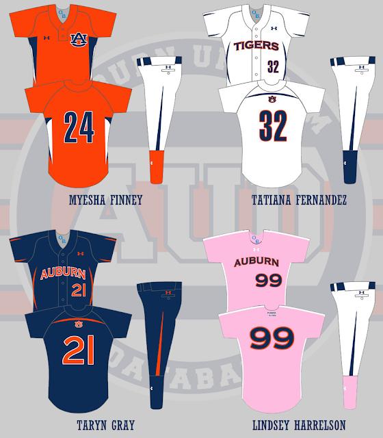 auburn softball uniform 2009