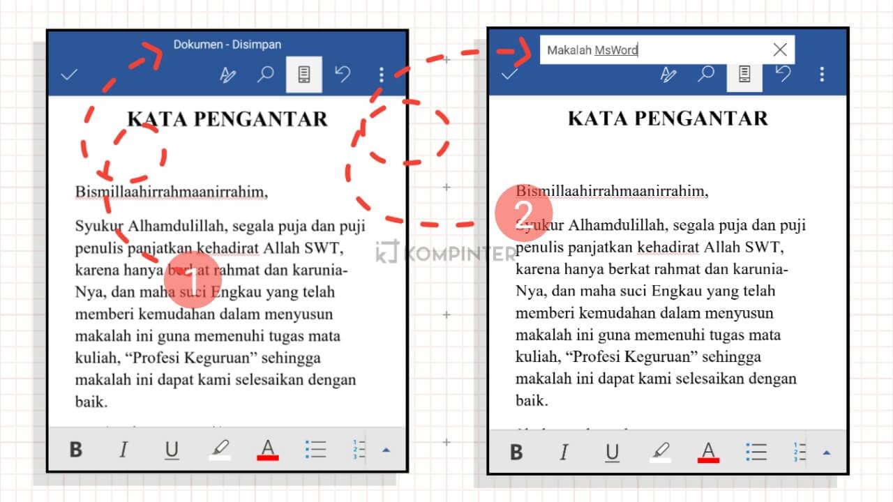 Membuat Makalah MS Office Android