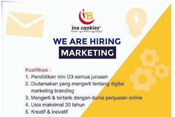 Lowongan Kerja Bandung Marketing Ina Cookies