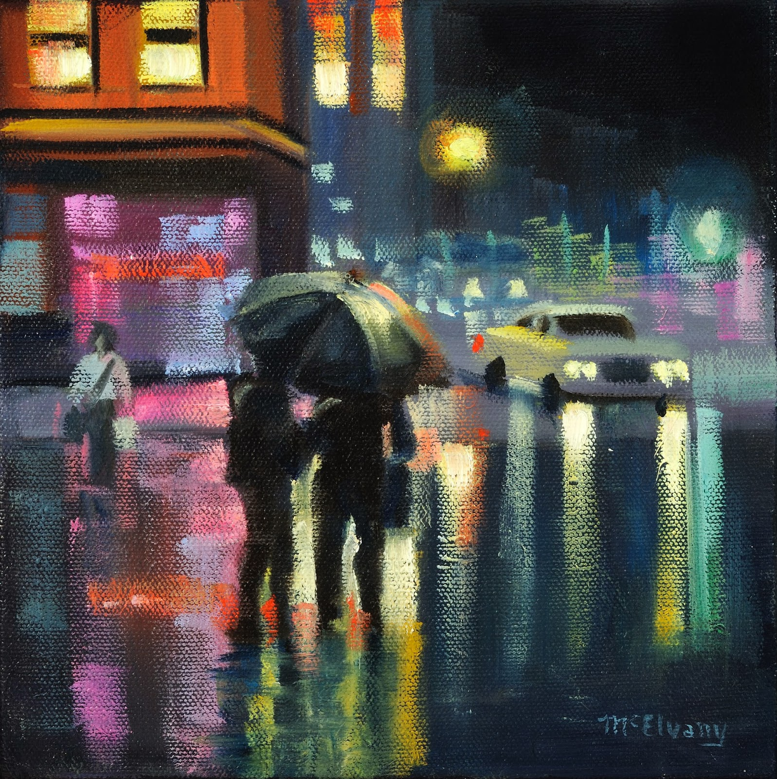 Street Light At Night Painting An Artist 39s Life Jane Mcelvany Coonce Oct 2013 The Art