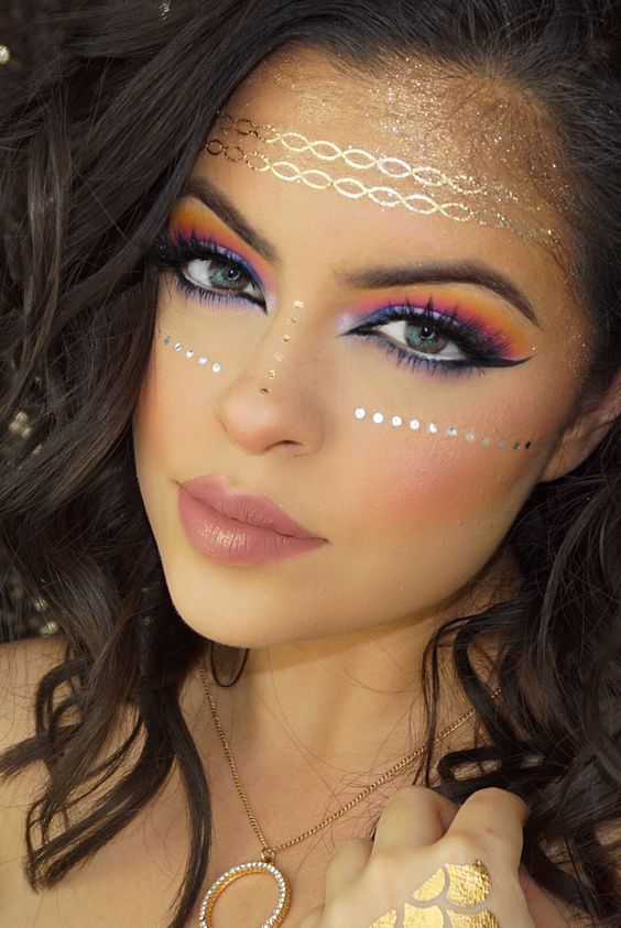 cool boho make up idea